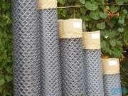 Сетка рабица металлическая оцинкованная с загнутыми концами разных раз
